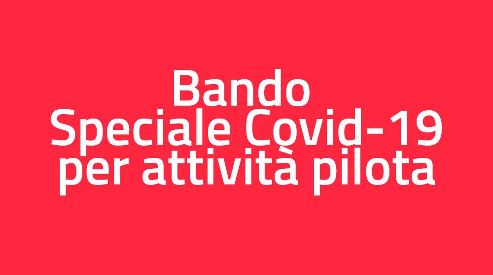 bando speciale Covid-19