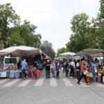 via Segneri, mercato rionale del giovedì mattina