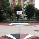"""p.za Tirana, Campo basket. Progetto """"Immaginare Piazza Tirana"""""""